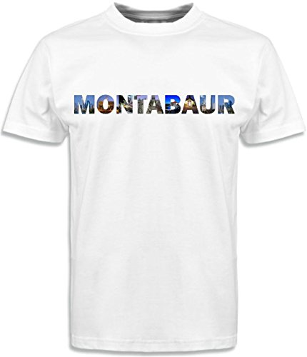 T-Shirt mit Städtenamen Montabaur Weiß