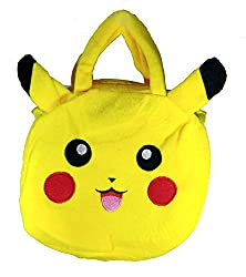 A-Mart Soft toy sling bag pikachu pokemon yellow for kids girls 8 inch