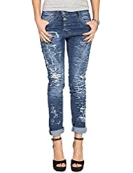PLEASE - P78 jeans femme pantalons baggy ripped