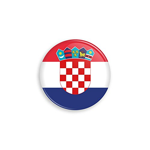 Flagge als Anstecker mit Nadel oder Magnet als Auswahl, 38 mm Durchmesser - Für Fußball WM, Themen Partys und Feiern oder als Geschenk - Nadel ()