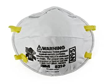 Respirator Mask Niosh N95 Pack Approved Particulate 8210 3m 1 Of