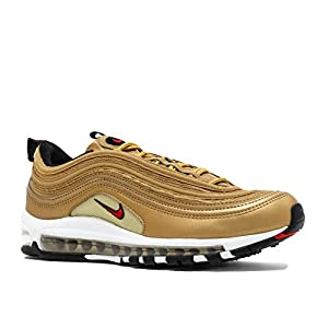 "41Y NVt3SBL. SS300  - Nike Air Max 97 OG QS ""Gold"" - Metallic Gold/Varsity Red Trainer"
