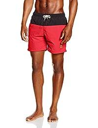 Urban Classics Herren und Jungen Badehose Badeshorts Block Swim Shorts in angesagten Farben mit Netz Innenslip,