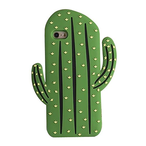 SKS Distribution® Súper Caso lindo Tropical Cactus de silicona suave para el iPhone de Apple 5 / 5S / 5C / SE