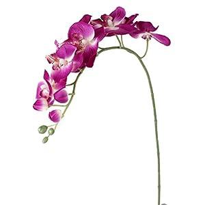 nicebuty 1x Artificial mariposa orquídea flor planta casa decoración fucsia