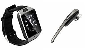 MIRZA DZ09 Smart Watch & HM1000 Bluetooth Headset for MI NOTE NATURAL BAMBOO EDITION(Bluetooth Headset & Bluetooth DZ09 Smart Watch Wrist Watch Phone with Camera & SIM Card Support Hot Fashion New Arrival Best Selling Premium Quality Lowest Price with Apps like Facebook, Whatsapp, Twitter, Sports, Health, Pedometer, Sedentary Remind & Sleep Monitoring, Better Display, Loud Speaker, Microphone, Touch Screen, Multi-Language, Compatible with Android iOS Mobile Tablet-Assorted Color)