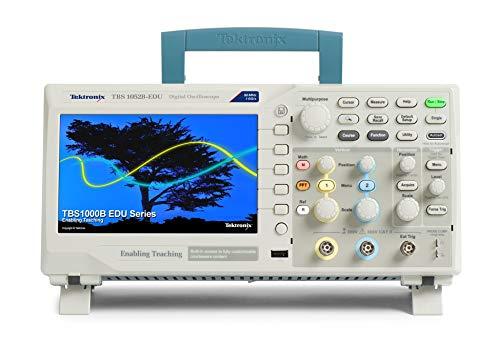 Tektronix TBS1052B-EDU - Osciloscopio digital de almacenamiento, ancho de banda de 50 MHz, tasa de muestreo 1GS/s, 2 canales, longitud de grabación de 2,5 K