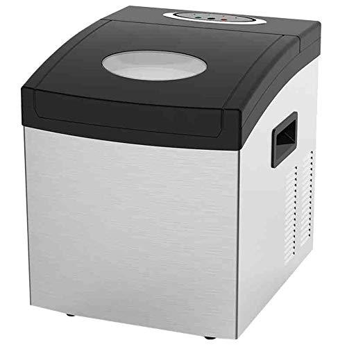 Eismaschine Maschine Gewerbliche Haushalts-Quadratischer Eiswürfel Counter Top Eismaschine-Manuelle BewäSserung Kein Drainage Erforderlich-55lbs Eis In 24 Stunden Tea Shop Cold Drink-Shop