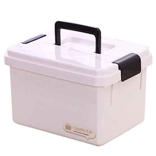 Winni43Julian Hausapotheke Box, 10L Mehrere Schichten Tragbar Medizinbox mit Getrennten Fächer Medikamentenbox, Tragbare Medizinische Box