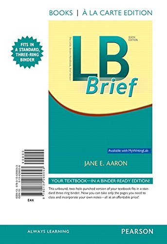 LB Brief, Books a la Carte Edition (6th Edition) by Jane E. Aaron (2016-01-15)