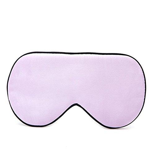 Melodycp Augenmaske mit Bandeaugen, Maske und Augenmaske aus Seide, für Reisen bequem und verstellbar Rosa