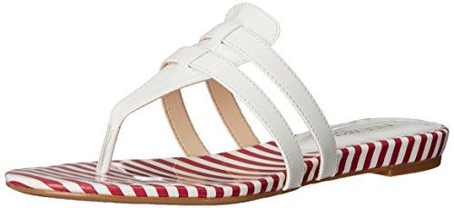 Neuf West Fuori Sintetico Robe Sandale Blanc