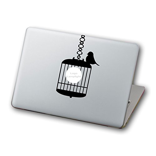 "Preisvergleich Produktbild Mcbazel Laptop Vinyl Aufkleber Aufkleber Abnehmbarer Muster Mode Macbook Aufkleber, Anti-Scratch Decal Vinyl Aufkleber Skin Cover f¨¹r Macbook Air / Pro / Retina Laptop 13 ""-Vogelkfig"