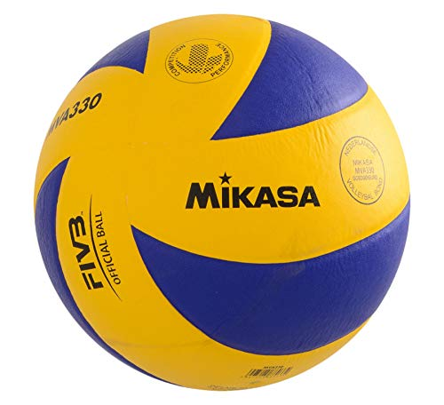 Mikasa Volleyball Ball Ball Tecno Pro Mva 330, Gelb/Blau, 5, 4020325900005