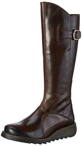 FLY London Mol 2, Bottes femme Marron (Dkbrown 004)