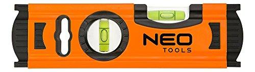 Neo Tools 71-030Wasserwaage, Aluminium, 2Libellen (20cm)