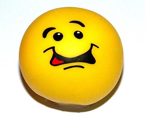 1 x Trendy Smiley Gummi stretch Stress Ball - Antistressball Stressballs Knautschball ca. 6 cm spielen+sammeln Mitbringsel (Schwertfisch Kostüme)