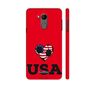 Colorpur USA Soccer Shirt 2016 Printed Back Case Cover for Coolpad Note 5