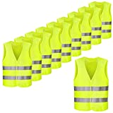 FEMOR Set de 50pcs de Chaleco de Seguridad Reflectante de Alta Visibilidad XXXL 63 x 58 cm Color Amarillo