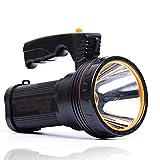 Roawon Outdoor tragbare Taschenlampe USB wiederaufladbare super helle LED-Scheinwerfer Taschenlampe Scheinwerfer Multi-Funktions-Long-Shots-Lampe, 9000mA 100W