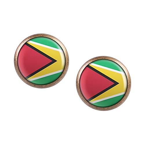 ar mit Motiv Guyana Georgetown Flagge bronze 12mm ()