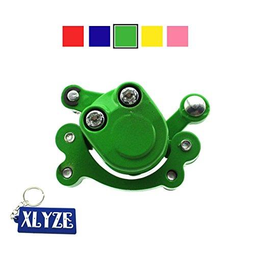 xlyze Pinzette, Scheibenbremse Vorderachse für 47cc 49cc Pocket Bike Dirt Bike Pocket Bike Mini Scooter Kid Baby Crosser grün