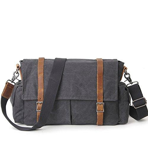Mefly Gli Uomini Del Sacco Di Svago Crossbody Bag Sacca Casual Tendenza Kaki black