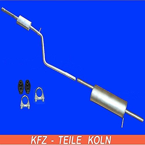 Mittel + Endschalldämpfer Auspuffanlage (KSRK7P1L7)