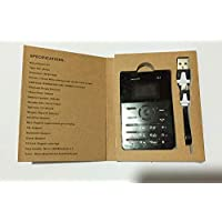 Q1 ميني سليم هاتف خلوي بحجم بطاقة - اسود