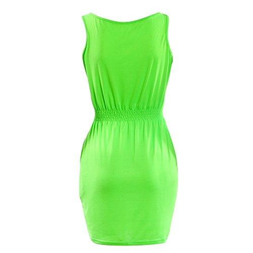 Pinkyee Damen Kleid Grün