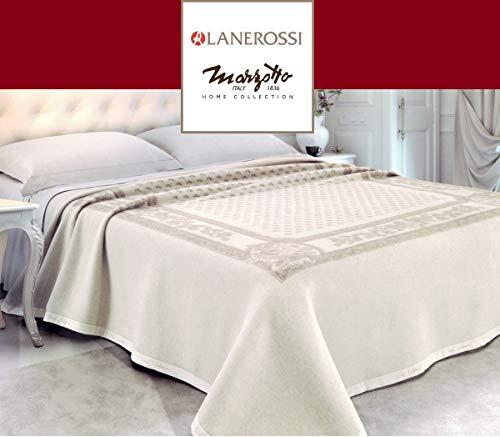 Lanerossi coperta pura lana vergine 95% e cashmere 5% serenella matrimoniale 230x270