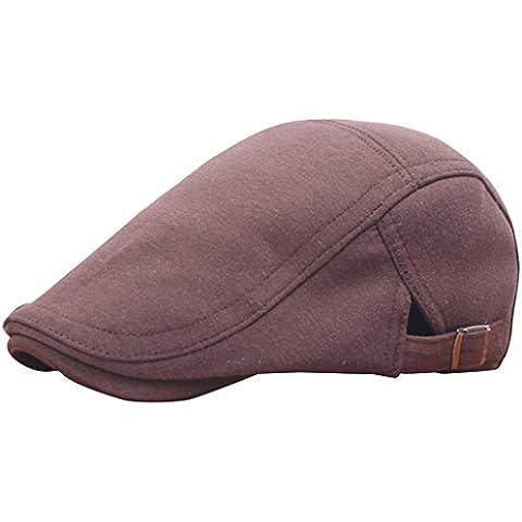 Vollter Invierno unisex de la boina de pico de pato Ivy Casquillo de golf de conducción plana taxista vendedor de periódicos del sombrero de Navidad