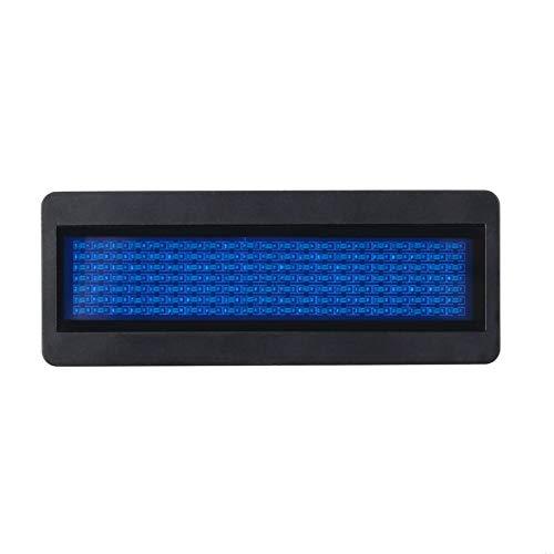 Pudincoco LED Namensschild Zeichen Scrollen Werbung/Visitenkarte Anzeige Tag/Programmierer/Bestellung Digitalanzeige Englisch Wholesale Tech (blau)