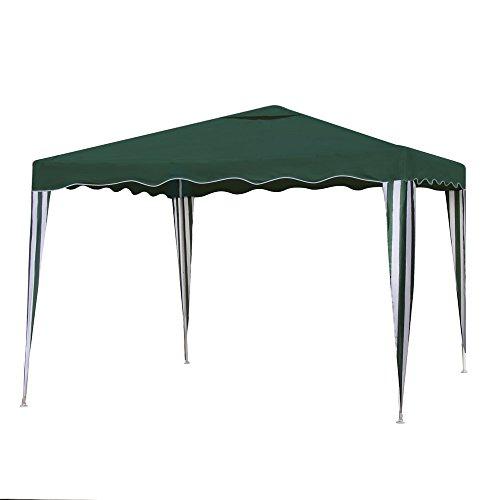 Ldk Garden 2086100 - Mirador desmontable para camping y playa, 300 x 300 x 240 cm, color verde