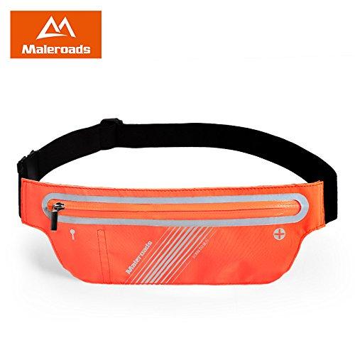 KANG@ Sport Taille Pack Multifunktions Running Männer und Frauen Outdoor Handy Tasche Anti-Diebstahl intime Stealth wasserdicht Beutel Orange