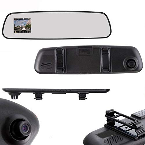 Car Rearview Mirror Driving Recorder-2.4 Zoll Screen HD 1080P Vga Reversing Image Display-Rear View Mirror and Recorder Perfekt Integrated-Easy to Install (Easy Screen Recorder)