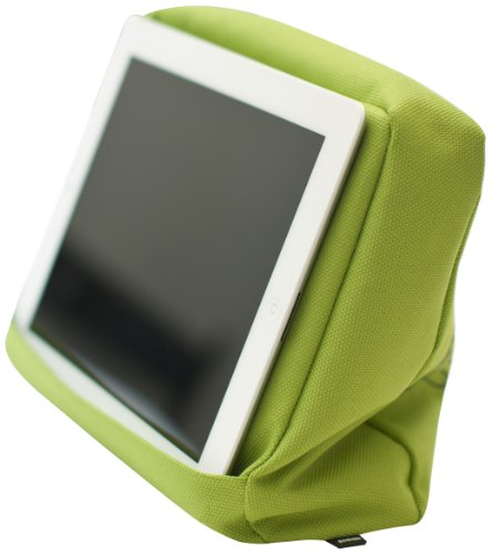 Bosign Tabletpillow Hitech 2Für iPad/Tablet PC, Couch/Kissen Bett mit Tablet Pocket-Black/grün (Tablet-kissen)