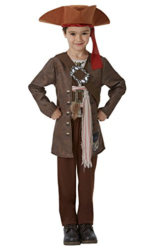 Rubie's- pirati dei caraibi movie costume jack sparrow per bambini, l, it630788-l