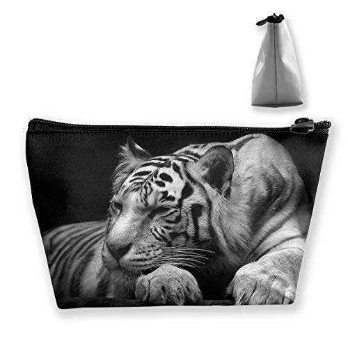 2a781bbe469d Storage Bag Animal Black and White Tiger Cosmetic Bags Outdoor Travel  Organizer Bag Makeup Train Case