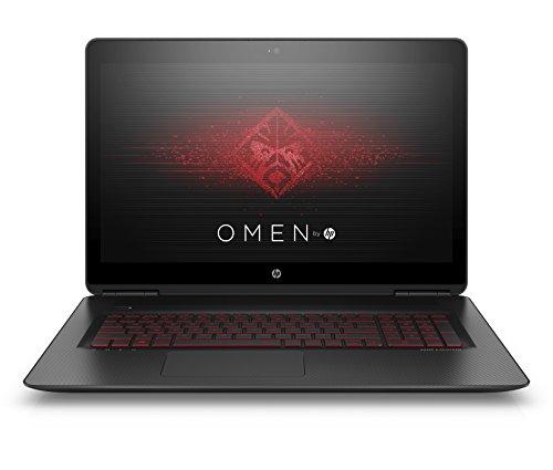 HP Omen 17-w222ng 43,9 cm (17,3 Zoll) Laptop (Intel Core i7-7700HQ, 8 GB RAM, 1 TB HDD, 256 GB SSD, NVIDIA GeForce GTX 1050 Ti, Windows 10 Home 64) schwarz