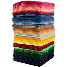Variación de fieltro sintético para manualidades bricolaje, apr. 7 x 7 cm