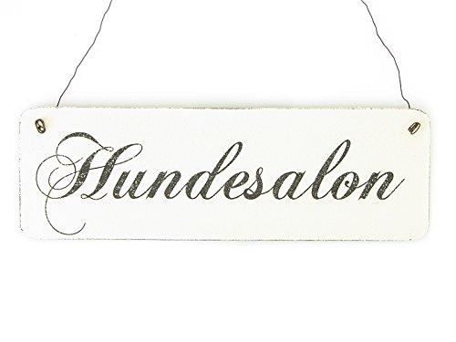 Shabby Vintage Schild Türschild HUNDESALON Holzschild Landhaus Chic (Hundesalon)