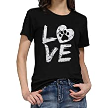 Amlaiworld Camisetas Mujer Verano Moda Camiseta Suelta de Manga Corta para Mujer Camisas con Letra de