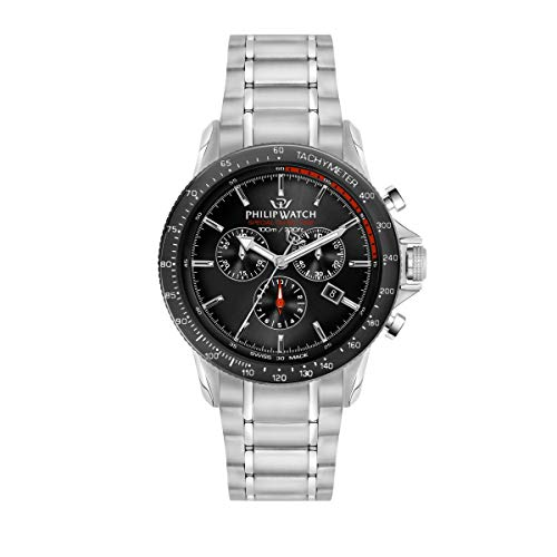Philip Watch Men's Watch, Grand Reef Collection, Chronograph, Made of Stainless Steel - R8273614003