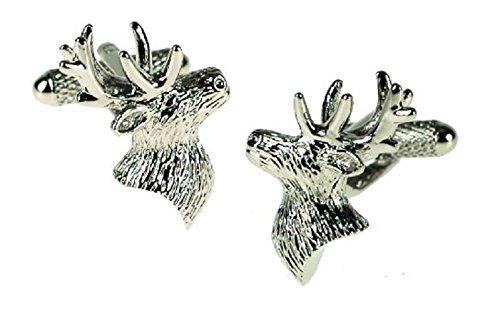 Boutons de manchette design Motif cerf en boîte cadeau - livrés Londres ck622