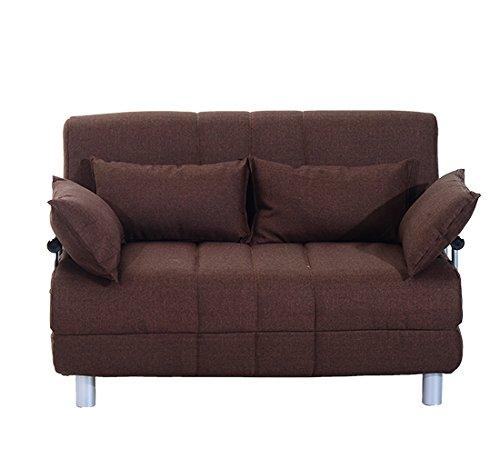 Homcom divano letto matrimoniale in acciaio e tessuto di for Amazon divani