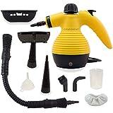 Comforday Limpiador Portátil Máquina Limpiador a Vapor Eléctrica con 9 Piezas de Accesorios Incluidos, Potencia 1050 W (Enchufe EU)