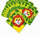 SALE - 16 Large Zoo Animal Paper Party Napkins