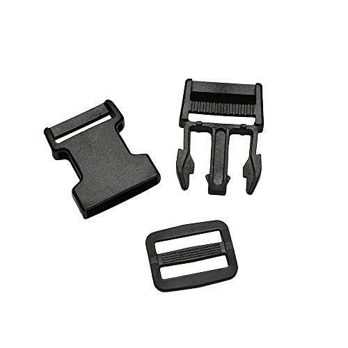 41Y ZtF7fbL. SS500  - 4m Nylon Webbing Strap Polypropylene Heavy Strap with Double Side Release Buckles Clips + Slides