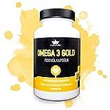 Omega 3 Kapseln in Markenqualität - extra Starke Dosierung - umfangreich SCHADSTOFFGEPRÜFT mit Laborgutachten - Fischölkapseln aus Wildfang, molekular destilliert